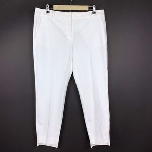 Nordstrom Signature White High Lo Ankle Crop Pants